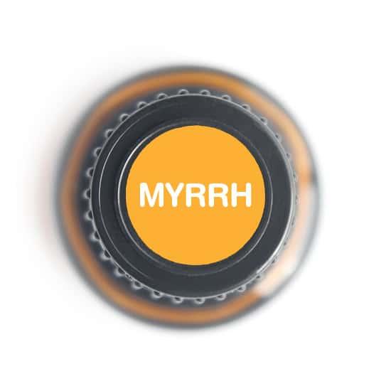 labeled top of myrrh bottle