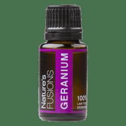 15 ml bottle of geranium essential oil