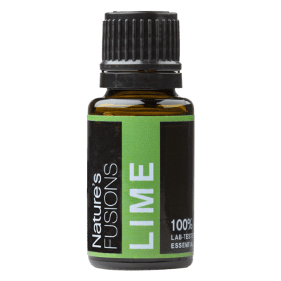 15 ml bottle of lime essential oil