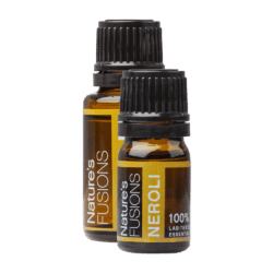 A 5 and 15 ml bottle of neroli essential oil
