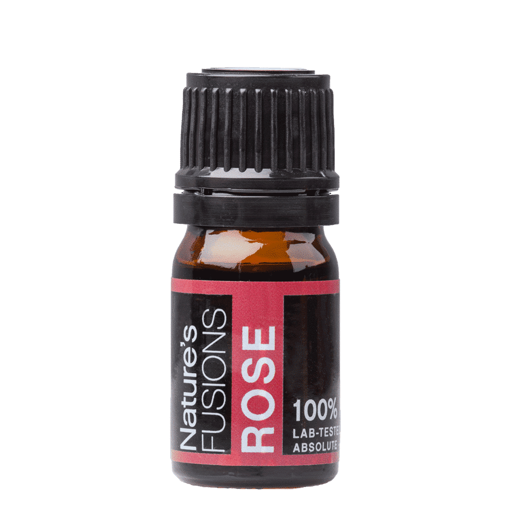 5 ml bottle of rose absolute essential oil