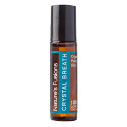 10 ml roll-on bottle of Crystal Breath topical essential oil