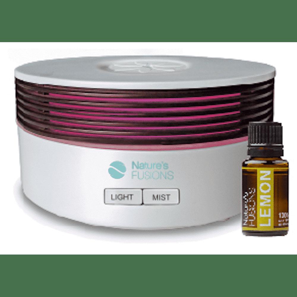 essential oil diffuser with 15 ml bottle lemon