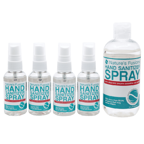 Hand Sanitizer Spray 4 Pack with Refill