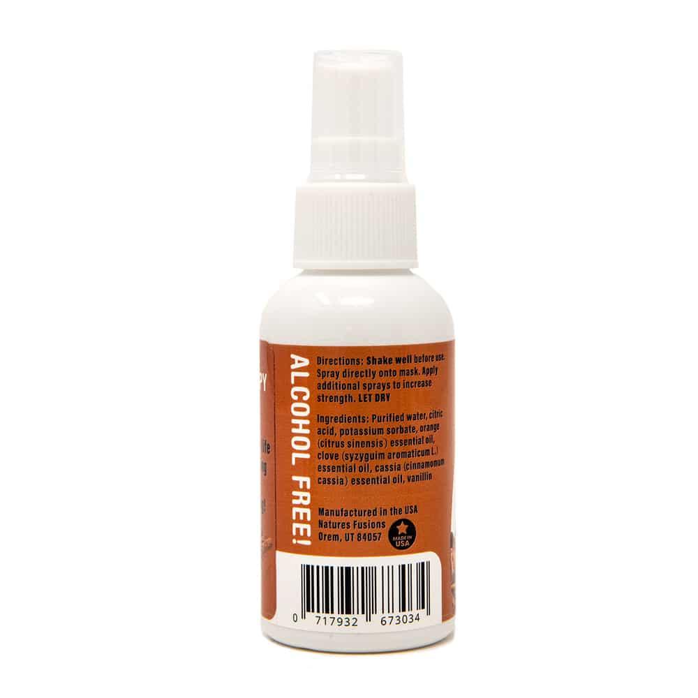 Cinnamon Vanilla Face Mask Spray, back label