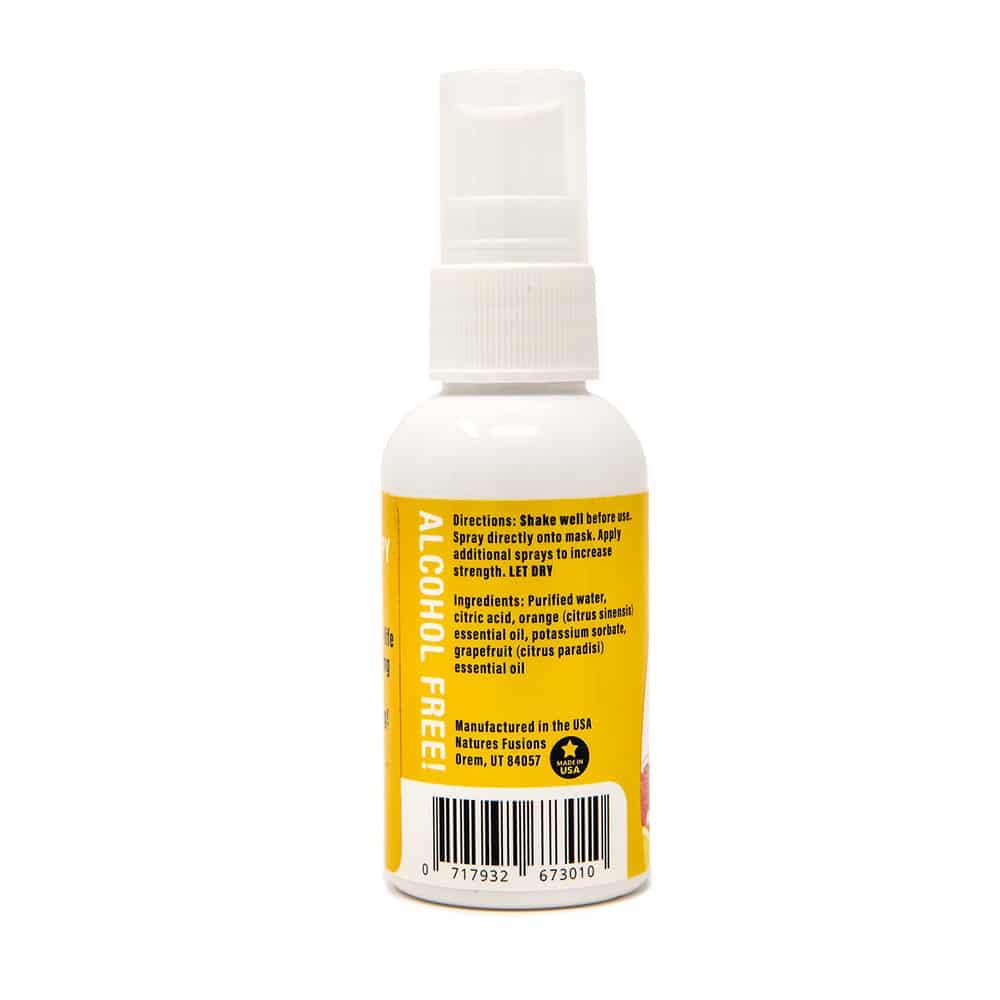 Citrus Face Mask Spray, back label