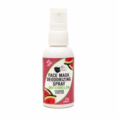 2 oz Face Mask Spray - Watermelon, kid safe + cleansing citric acid