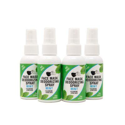4-pack 2-oz Face Mask Deodorizing Spray – Mint