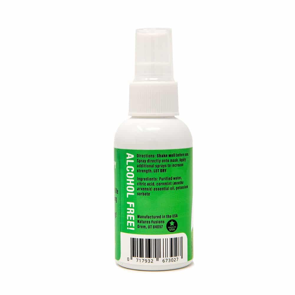 Mint Face Mask Spray, back label