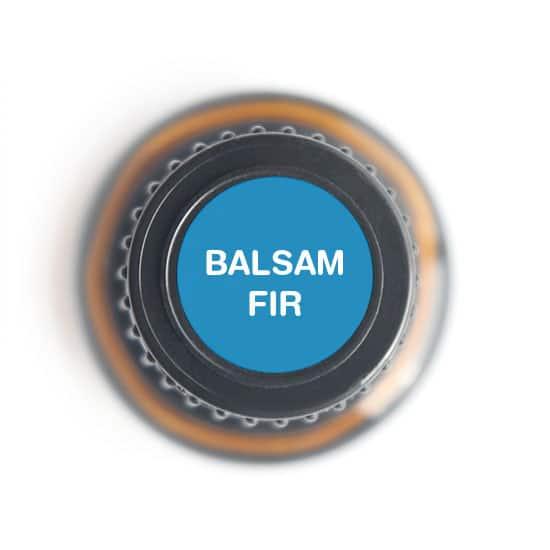 labeled top of balsam fir bottle
