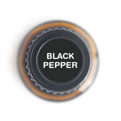 labeled top of black pepper bottle