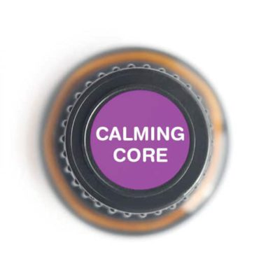 labeled top of Calming Core bottle