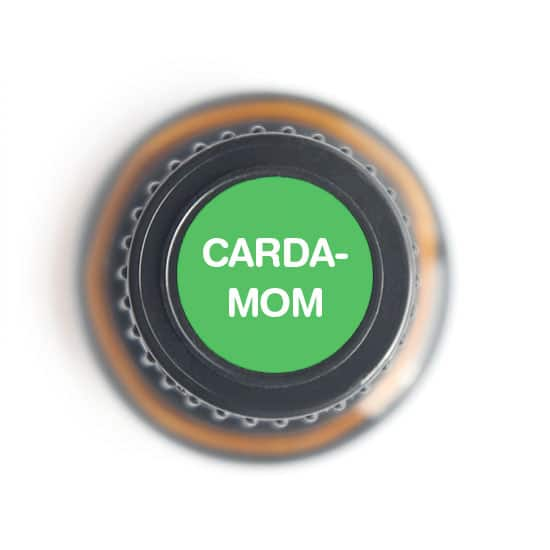 labeled top of cardamom bottle
