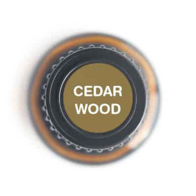 labeled top of cedarwood bottle
