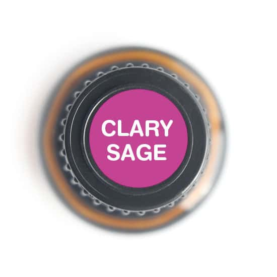 labeled top of clary sage bottle