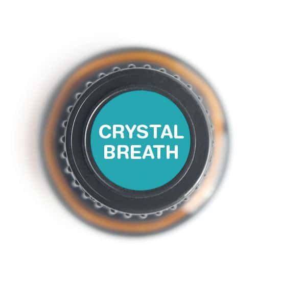 labeled top of Crystal Breath bottle