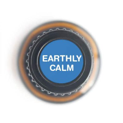 labeled top of Earthly Calm bottle