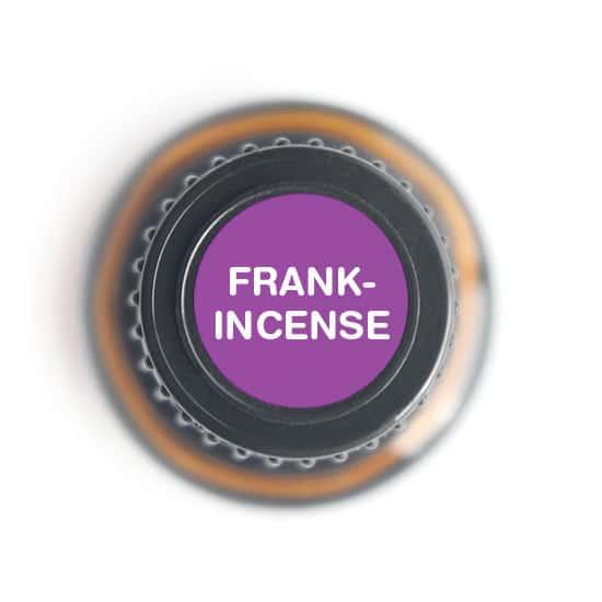 labeled top of frankincense bottle