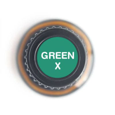 labeled top of Green X bottle