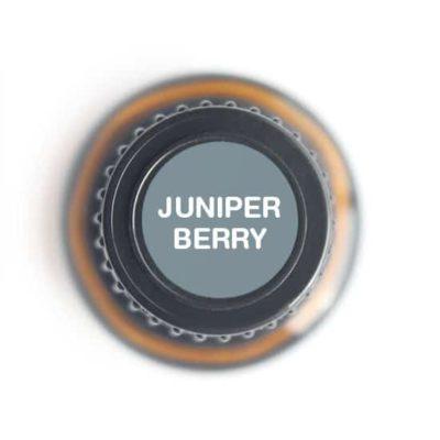 labeled top of juniper berry bottle