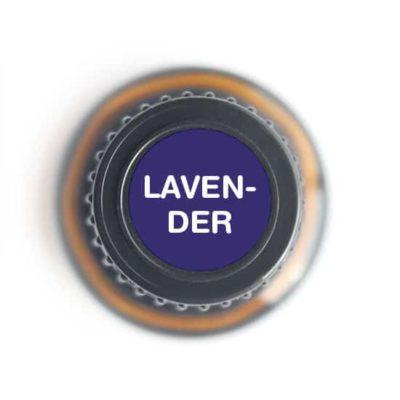 labeled top of lavender bottle