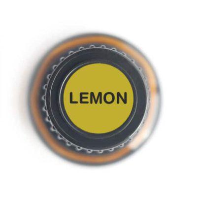 labeled top of lemon bottle
