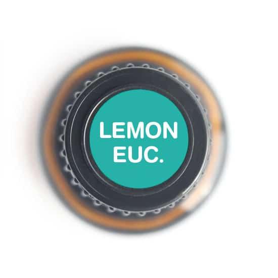 labeled top of lemon eucalyptus bottle