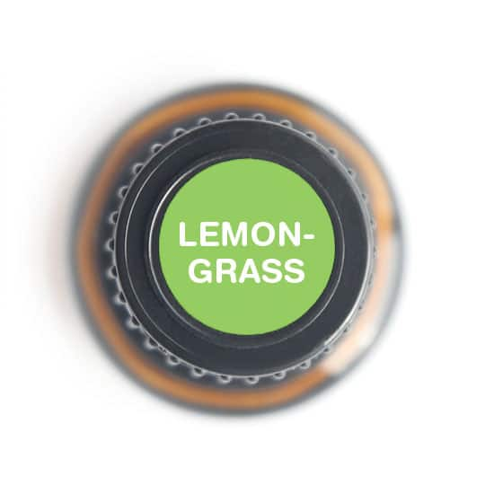 labeled top of lemongrass bottle
