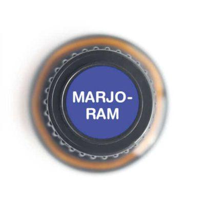labeled top of marjoram bottle
