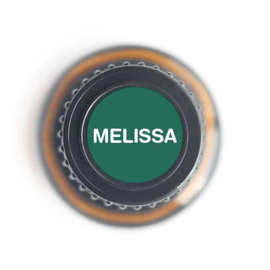 labeled top of melissa bottle
