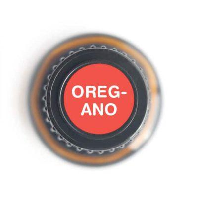 labeled top of oregano bottle