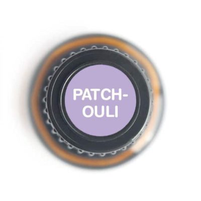 labeled top of patchouli bottle