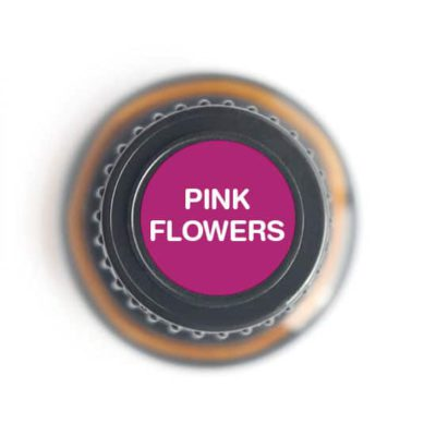 labeled top of Pink Flowers bottle