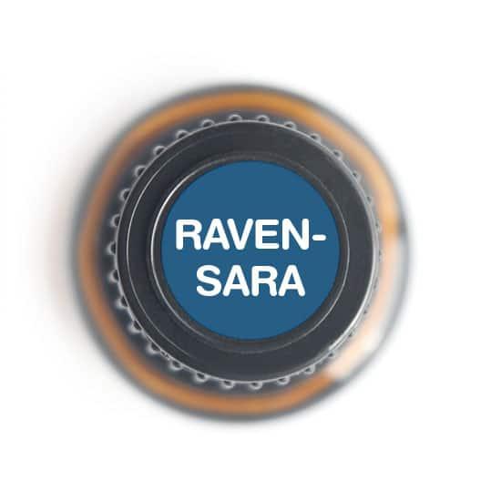 labeled top of ravensara bottle