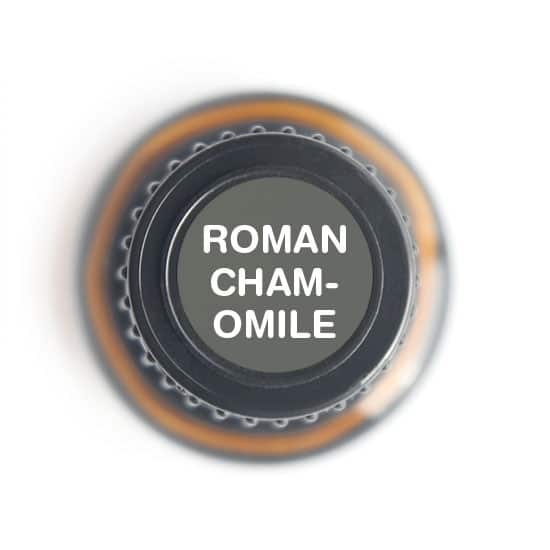 labeled top of roman chamomile bottle