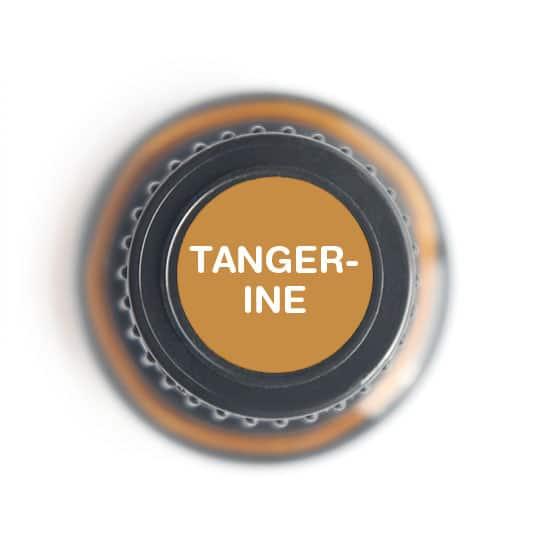 labeled top of tangerine bottle