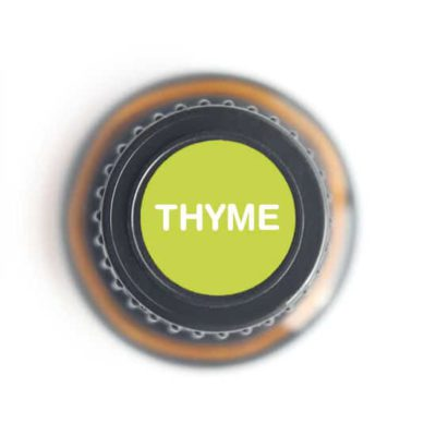 labeled top of thyme bottle