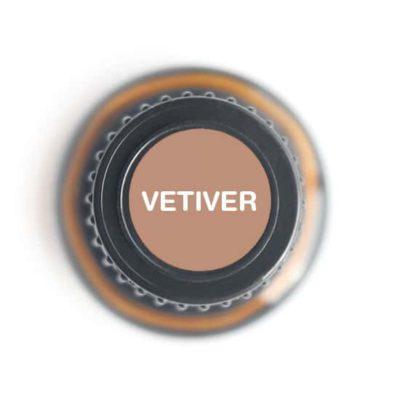 labeled top of vetiver bottle