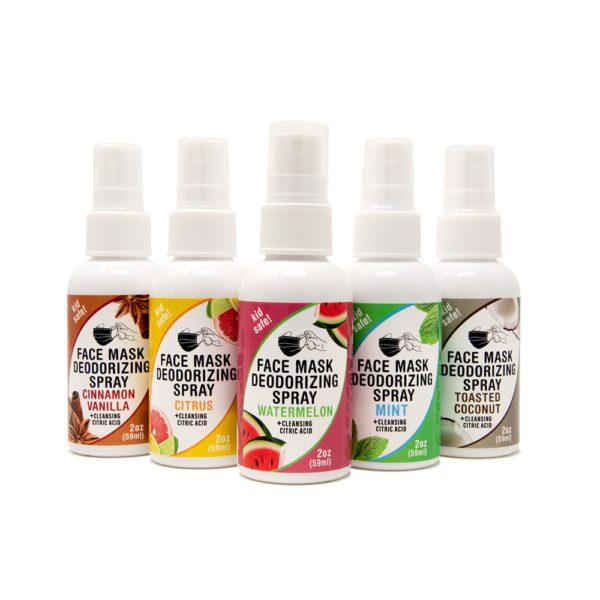 Variety 5 Pack Face Mask Deodorizing Spray – 2oz bottles