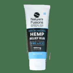 2 oz, 60 ml tube of THC-free Hemp Relief Rub with Fire & Ice