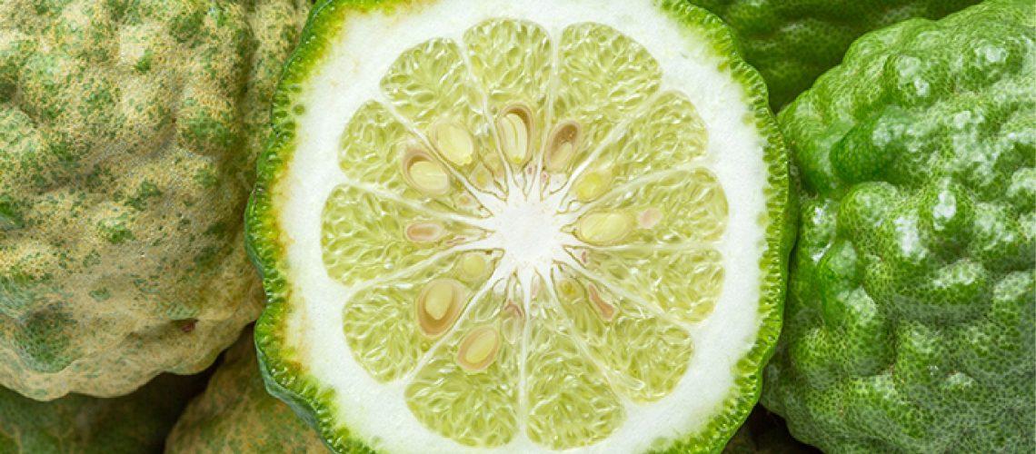 bumpy bergamot fruit sliced open